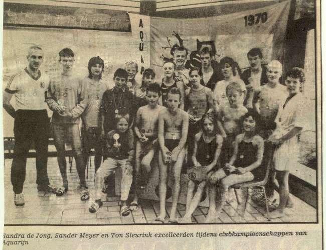 Clubkamp 1987 Aquarijn, te Nieuwegein